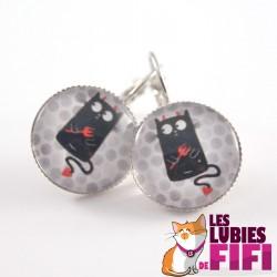 Boucle d'oreille chat : petit diable