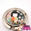 Accroche-sac Kokeshi : washi doll n°05