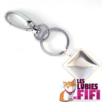 Porte-clé personnalisé  carré n°02