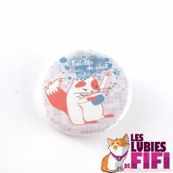 Badge chat : la toilette