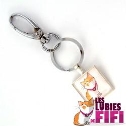 Porte-clé chat : fifi
