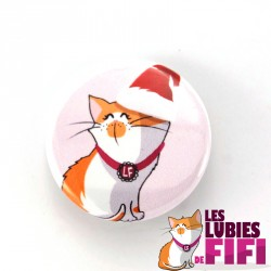 Magnet chat : Fifi le chat version Noël