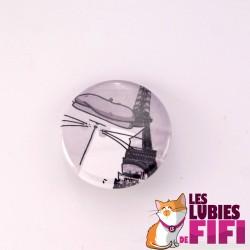 Magnet chat : Mrou le chat et la Tour Eiffel