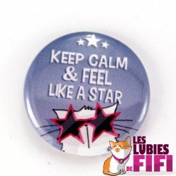 Magnet chat : Mrou le chat Keep Calm & Feel like a Star