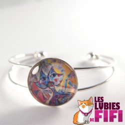 Bracelet chat : chat multicolore Brunsperger
