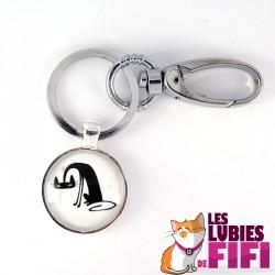 Porte-clé chat : chat APCLO