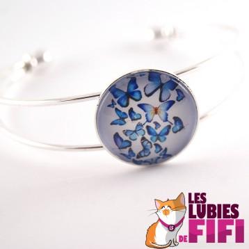 Bracelet papillon : papillons bleus