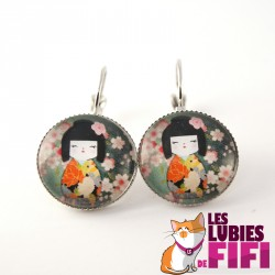 Boucle d'oreille chat : duo de chats Brunsperger