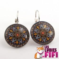 Boucles d'oreille mandala : oriental mandala n°08