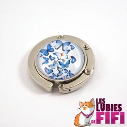 Accroche sac : papillons bleus