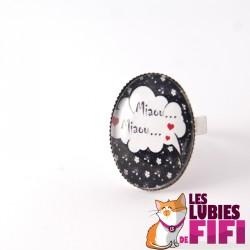 Bague chat : chat alors miaou miaou
