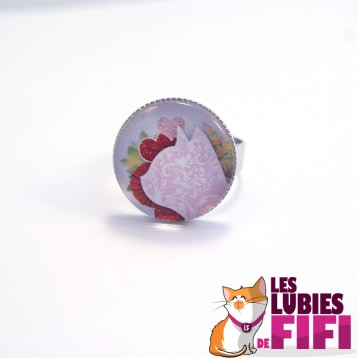 Bague chat : chat liberty rose
