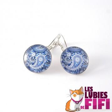 Boucle d'oreille hindou : floral paisle n°01