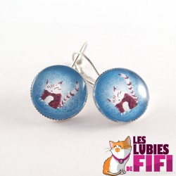 Boucle d'oreille chat : Chat by Poupidipoupi