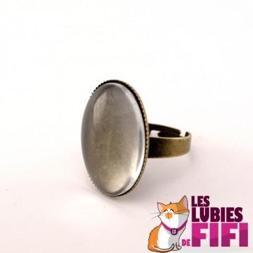 Bague personnalisée ovale bronze n°02