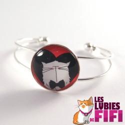 Bracelet chat : Mrou le chat amoureux