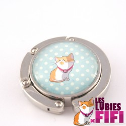 Accroche sac chat : les lubies de fifi sur fond à pois