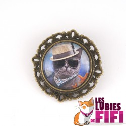 Broche chat : chat bad boy