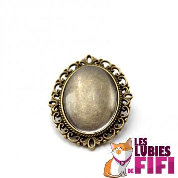 Broche personnalisée ovale bronze