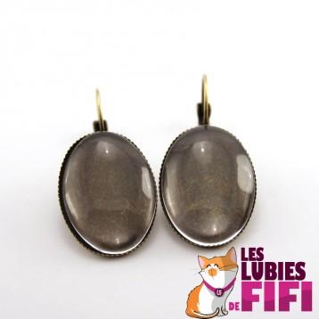 Boucles d'oreille personnalisées ovales bronzes