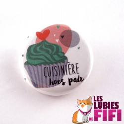 Badge : cuisinière hors pair version cupcake