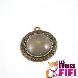 collier personnalisé rond bronze 25 mm n°02