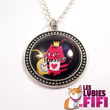 Collier chat : Noisette le chat in Wonderland