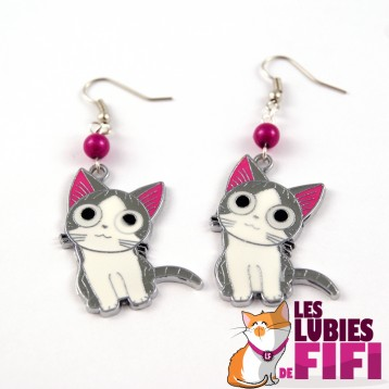 Boucle d'oreille chat : Chi le chat