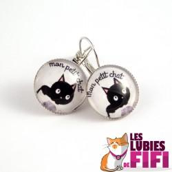 Boucle d'oreille chat : mon petit chat