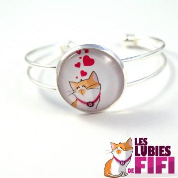 Bracelet chat : les lubies de fifi coeurs