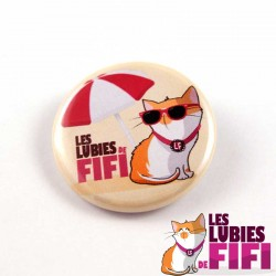 Badge chat : Fifi en vacances