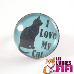 Bague chat : I love my Cat