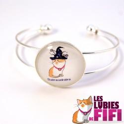 Bracelet chat : Fifi la magicienne