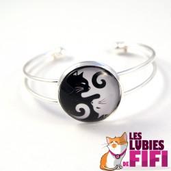 Bracelet chat : duo de chats