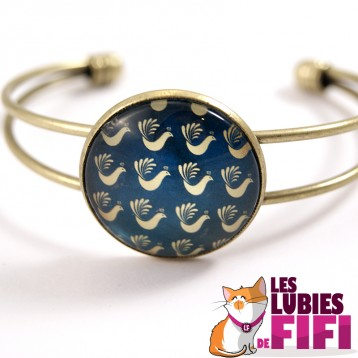 Bracelet Renaissance : paons dorés