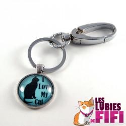 Porte-clé chat : I love my Cat