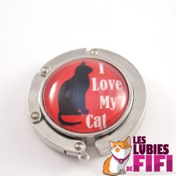 Accroche sac chat : I love my Cat