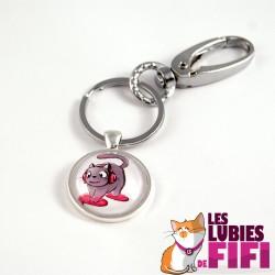 Porte-clé chat : Lucio le chat DJ