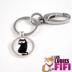 Porte clé chat : le chat noir