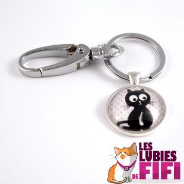 Porte clé chat : le chat gourmand