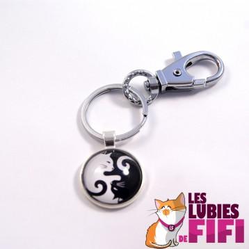 Porte clé chat : duo de chats