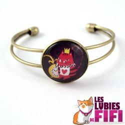 Bracelet chat : Noisette le chat in Wonderland