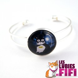 Bracelet chat : Noisette Batman