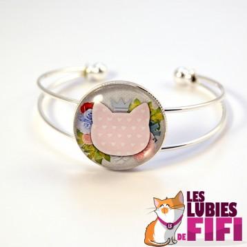 Bracelet chat : le chat liberty et sa couronne