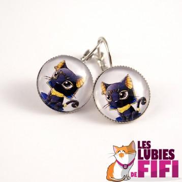 Boucle d'oreille chat :  Bastet