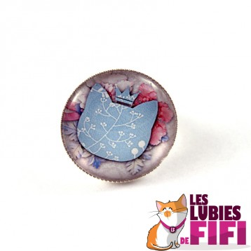 Bague chat : chat liberty beige