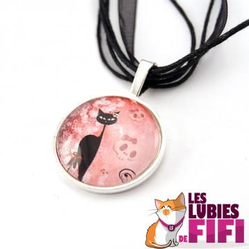 Collier chat : chat gothique n°04