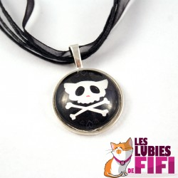 Collier chat : Chat Pirate