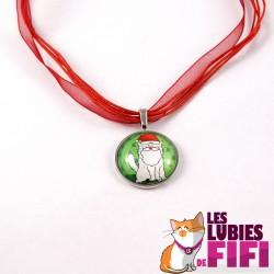 Collier chat : Mrou le Chat Père Noël