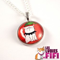 Collier chat : Mrou le Chat lutin de Noël